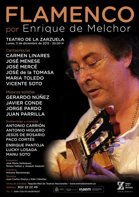 2012 Flamenco por Enrique de Melchor - Teatro Zarzuela