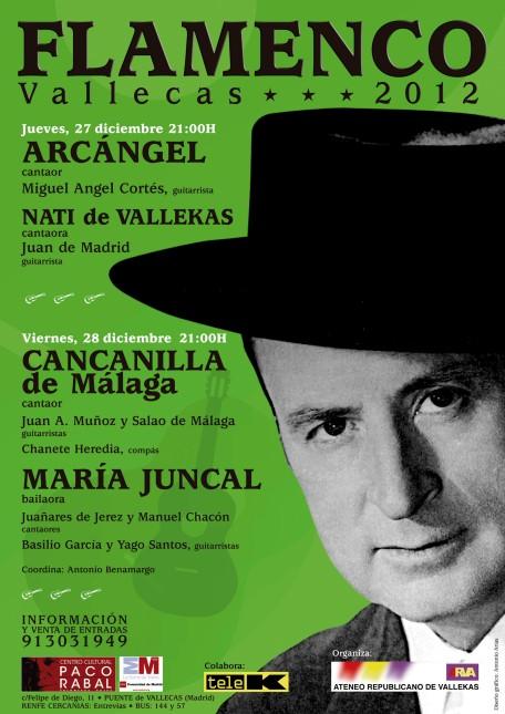 Cartel FLAMENCO VALECAS 2012