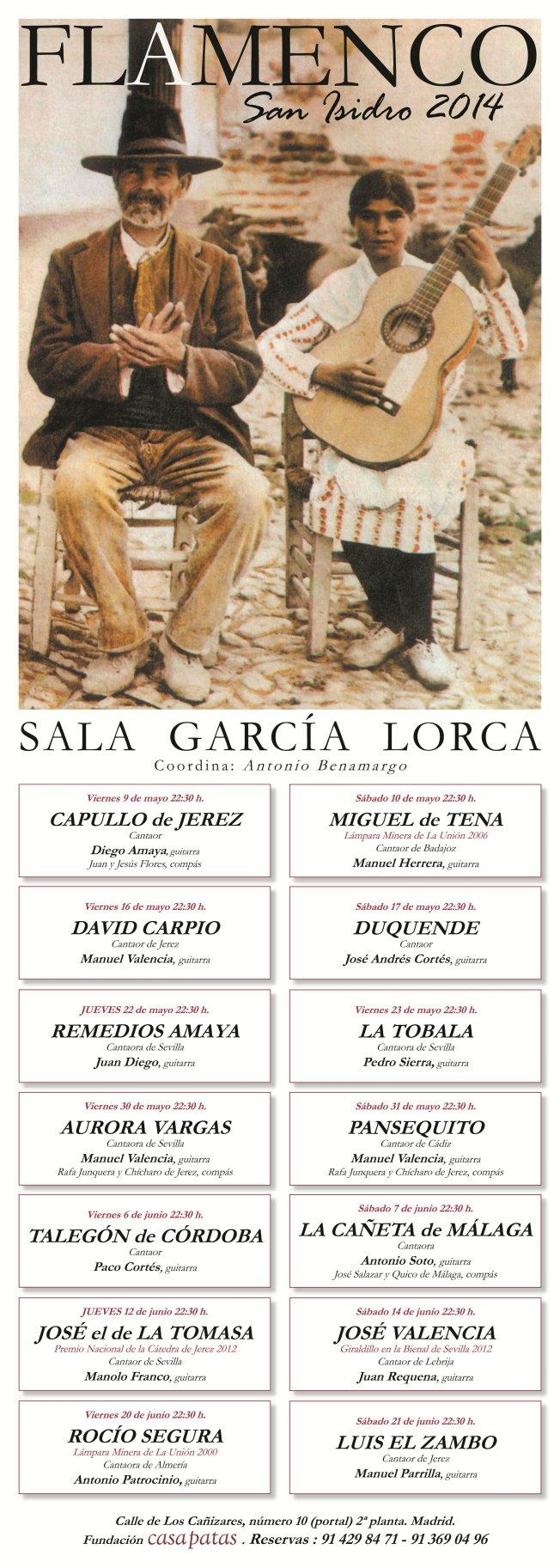 Cartel SAN ISIDRO FLAMENCO-2014 - copia
